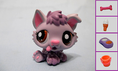Littlest Pet Shop Dog Puppy Husky Purple 1752 and Free Accessory Lps Exclusive