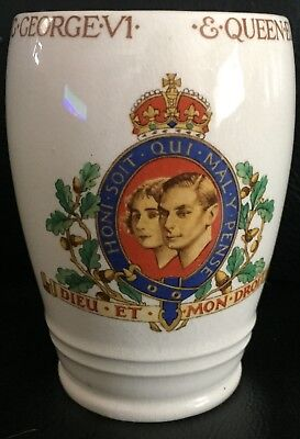 BESWICK GEORGE VI CORONATION MUG - MAY 1937 in EXC