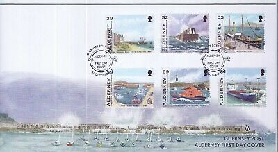 GB Stamps First Day Cover Alderney Harbour history, ships SHS Mooring Ring 2012