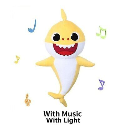 Cute Stuffed Baby Shark Plush Singing Toy Music Doll English Kids Song Gift Toys