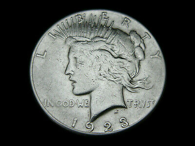 USA, 1 Dollar, 1923, Peace, Silber/900, orig., ss.!