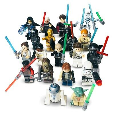 Custom Lego Minifigures Bundle Uk Star Wars Series Jedi Mini-Figs - Mini Figures