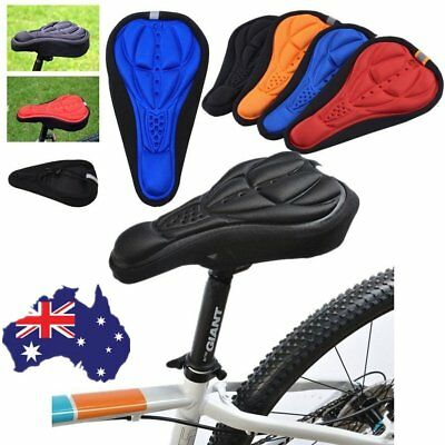 New Cycling Bike Bicycle MTB Silicone Gel  Soft Pad Saddle Seat Cover A Hv