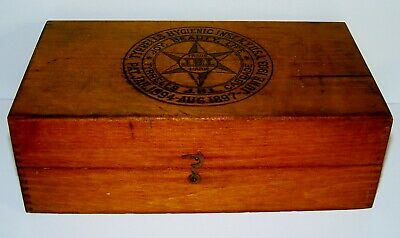 Antique Tyrrells Hygienic Institute Enema Douche Medicine Wood Advertising Box