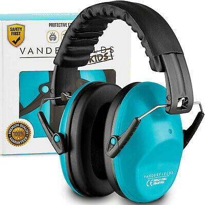 Ear Defenders Noise Reduction Kids Toddlers Children Autism Earmuffs Blue Sky