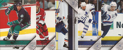 2005/06 Upper Deck Series 2 Hockey Card # 249,282,369,423 and 430  ''U'' SELECT