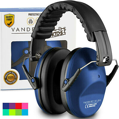 Ear Defenders Noise Reduction Kids Toddlers Children Autism Earmuffs Marine Blue