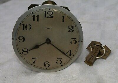 c1893 JAPY FRERES 8 DAY CLOCK MOVEMENT FOR SPARES OR REPAIRS