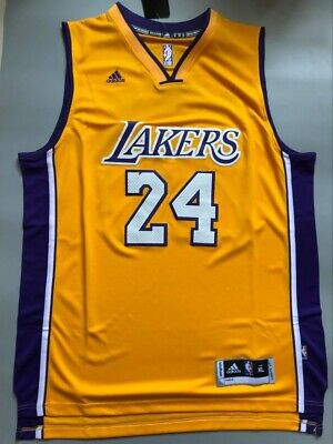 d637962d3dd NWT Men's Kobe Bryant #24 Los Angeles Lakers Swingman Jersey Yellow Size  S-XXL