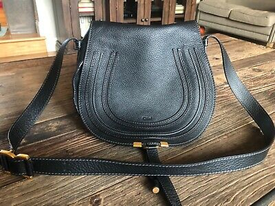 637f690008c047 Gently Used Chloe Marcie Medium Leather Crossbody Bag (Black)