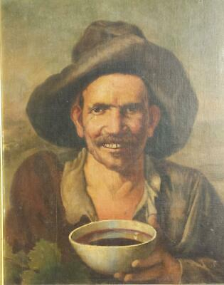 PORTRAIT OF A WINEMAKER - STUNNING ORIGINAL 19th CENTURY FRENCH OIL PAINTING