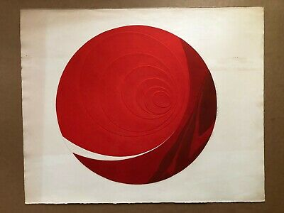 Pencil-Signed Colograph BEATRICE BERLIN (1922-2010) 'Color Me Red Artist's Proof