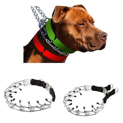 1PC Special Dog Training Creative Prong/Pinch Collar with Black Plastic Cover