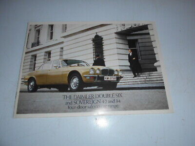 brochure daimler double six and sovereign 4.2 and 3.4 four door saloon car 14p