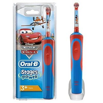 Braun Oral-B Stages Power Disney's 'Cars' Electric Toothbrush-2min.Timer-Ages 3+