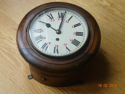 Fusee 8 INCH Wall Clock working order 8 day