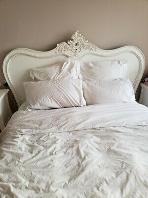 La Rochelle Antique French Style Shabby Chic King Size Bed Bedroom Mahogany