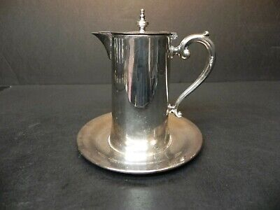 Scarce Syrup Pitcher w Attached Underplate by Wallace Silver