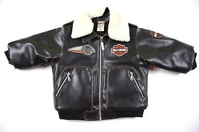 Harley Davidson Faux Leather Motorcycle Jacket Youth Toddler Infant 18 months