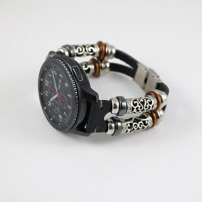 Retro Style Leather Wristband Strap Bracelet Watch Band For Samsung Gear S3