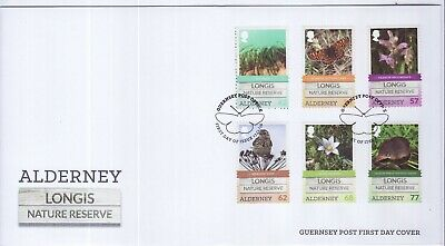 GB Stamps First Day Cover Alderney Longis Nature reserve SHS Butterfly 2016