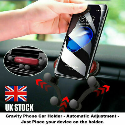 Universal Auto-Grip Car Phone Holder Mount For Samsung Galaxy S10/iPhone 8/8Plus