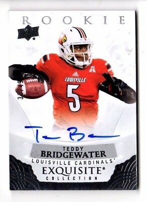 Teddy Bridgewater Nfl 2013 Exquisite Collection Draft Picks Autographs (Vikings)