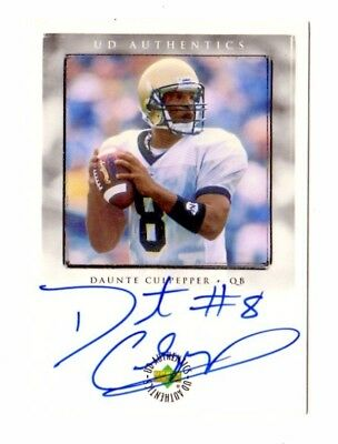 Daunte Culpepper Nfl 1999 Ud Ionix Ud Authentics Autograph (Vikings,Dolphins)