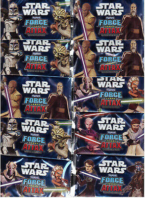 Star Wars Clone Wars / Force Attax  Serie 1 / 10 Tüten / Booster Neu OVP Topps