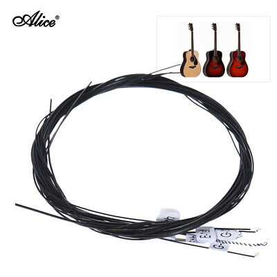 Alice Black Nylon Classical Guitar Strings 6pcs/set (.028-.043) US V2Q1