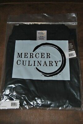 Mercer Culinary Millennia Air -New Unisex Cook Shirt Black - Large