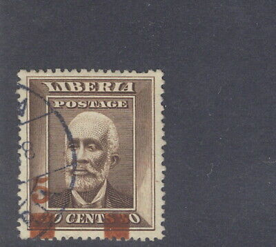 Liberia 1915-6, 5c overprint on 30c Barclay, used, rare thus, RARE stamp $$ #140