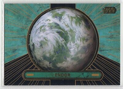 2013 Star Wars Galactic Files Gold Parallel Card #687 Endor 10/10