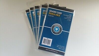 "CSP Beckett Graded Card Sleeves 100 ct Lot of 5 NIP 2 Mil Reseal 3 3/4""x5 1/2"""