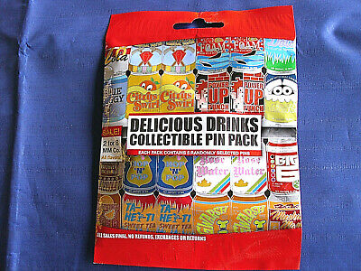 Disney * DELICIOUS DRINKS * New & Sealed * 5-pin Collectible Mystery Pin Pack