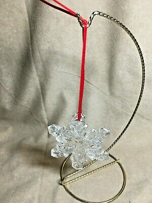Waterford Marquis Clear Crystal Snowflake Christmas Tree Ornament