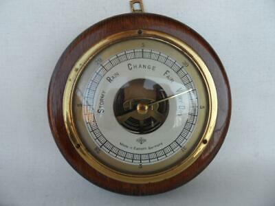 Vintage Wooden Forster East Germany Weather Barometer Good working condition