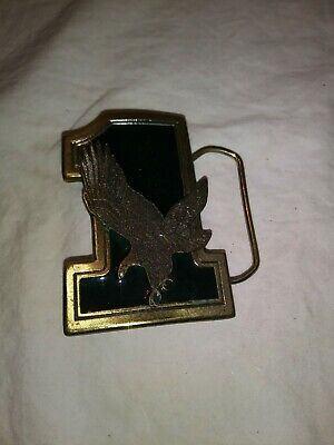 American Eagle Belt buckle 1975 on a #1, Eagle also displayed on reverse side