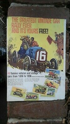 Skippy Corn Flakes Veteran and Vintage  Cars  Cereal Box Back Cover.