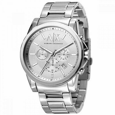 Armani Exchange AX2058 Men's  Watch, Silver, NEW! With Armani gift box