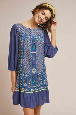 fdceaa3ce656 Anthropologie Akemi + Kin Patna Embroidered Tunic Drop Waist Swing Dress  $200