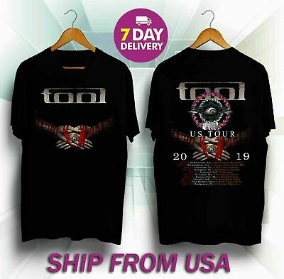 BEST Tool Band US Tour 2019 with Dates Men's Black T-Shirt Size US SIZE