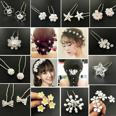 Wedding Bridal Hair Comb Jewelry Pearl Crystal Crown Hair Pin Clip Accessories