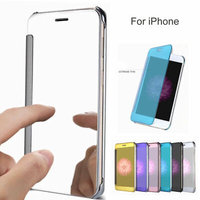 Luxury Mirror Clear View Flip Hsrd Case Cover Stand For Apple iPhone XS Max/XR