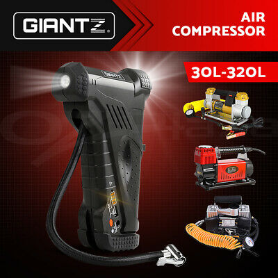 Giantz Portable Air Compressor Car Tyre Deflator Inflator Pump 12V Cordless