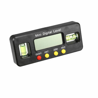 Digital Spirit Level Box Protractor Angle Finder 4x90° with Magnetic Base Black