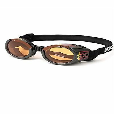 Doggles ILS Flame/Orange Medium | Goggles/Sunglasses | Eye Protection for Dogs