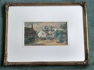 C. H. Frampton : Original Old Antique 19th Century English Watercolour Painting