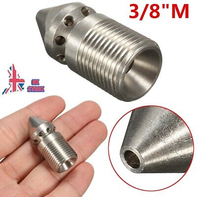 "Pressure Washer Drain Sewer Cleaning Jetter Nozzle (9 Jets) 3/8"" Male 4.5MM"