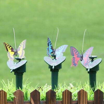 Solar Powered Dancing Fluttering Flying Butterfly Toy Art Home Garden Decor #8Y